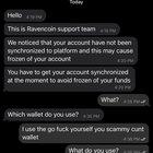 """Scam alert - """"Ravencoin support team"""" on telegram"""