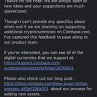 Coinbase responded to my request to list Ravencoin - and I feel as if I've gained no insight.