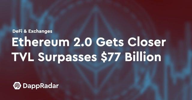 Ethereum Test Drives ETH 2.0 as TVL Surpasses $77 Billion