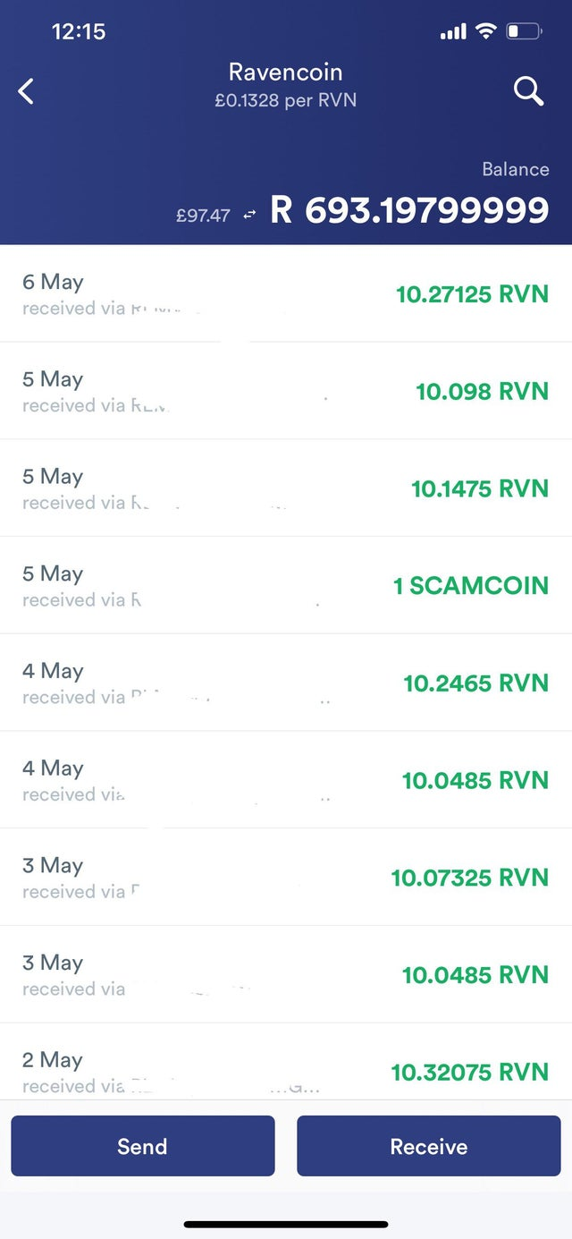 Has anyone seen this before? 1 SCAMCOIN. I'm using 2miners as my pool but never seen this before