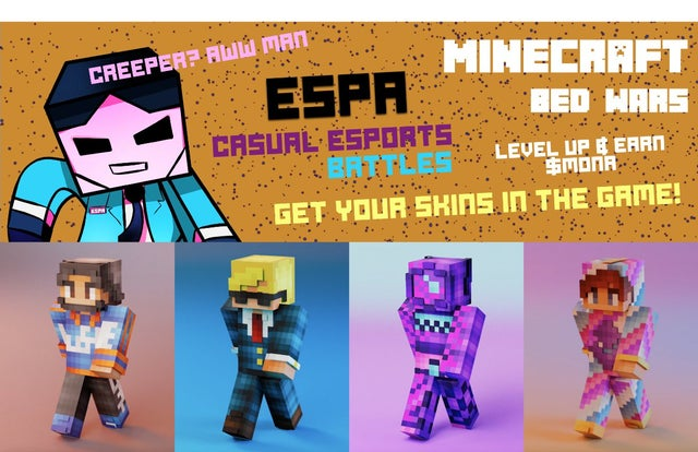 Ethereum Minecraft NFT for web3 esports! This is sick , love it!!!